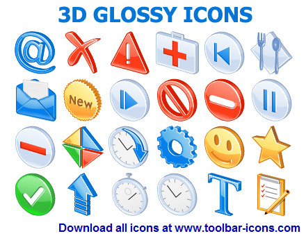 3D Glossy Icon Set screenshot