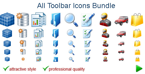 A mega-set of toolbar icons for designers