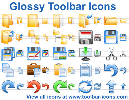 Click to view Glossy Toolbar Icon Set 2013.3 screenshot
