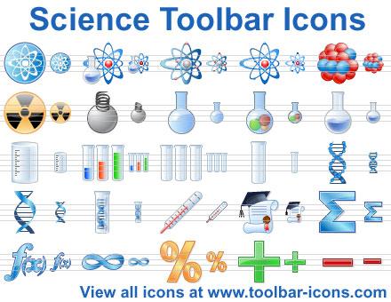 Science Toolbar Icon Set full screenshot