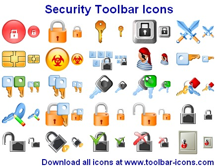 Security Toolbar Icon Set